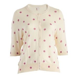 Melrose Chic polka dot cardigan 1X